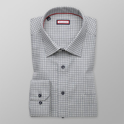 Classic shirt with dark blue pattern (height 176-182 and 188-194) 9998
